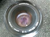 MINOLTA Lens/Filter MD 50MM 1.2